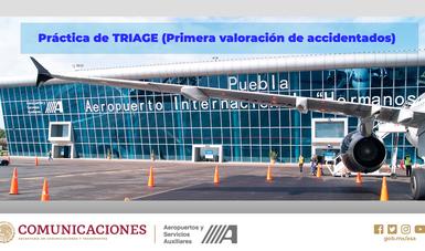 Realizará Aeropuerto de Puebla simulacro de TRIAGE