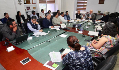 El Secretario se reunió con el director de la Conafor, León Jorge Castaños, acompañado de su equipo de trabajo.