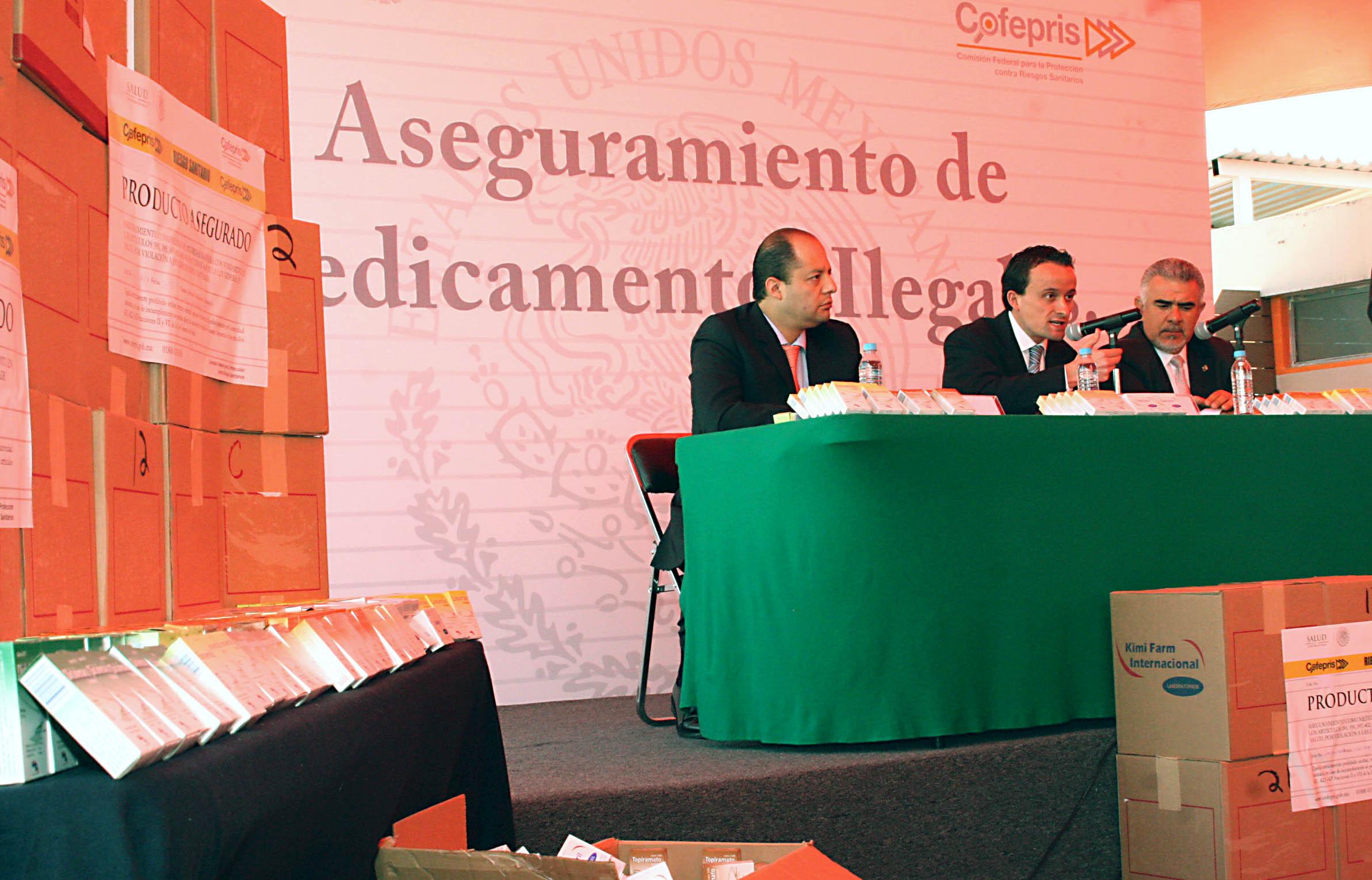 Aseguramiento de 166 toneladas de  medicamentos ilegales en Jalisco
