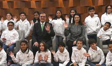 El canciller Marcelo Ebrard inaugura el Laboratorio: Ciudad de las Niñas y Niños en México