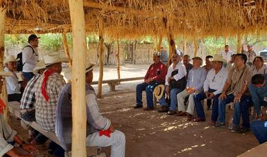 El titular de la Semarnat se reunió con las autoridades tradicionales de los ocho pueblos que conforman la Tribu Yaqui.