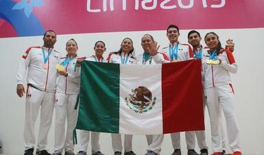 La raquetbolista ganó este sábado su noveno oro continental, con lo que supera los ocho títulos de la clavadista Paola Espinosa