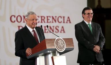 El presidente de México, Andrés Manuel López Obrador, durante la conferencia matutina de este miércoles 14 de agosto de 2019 desde Palacio Nacional.