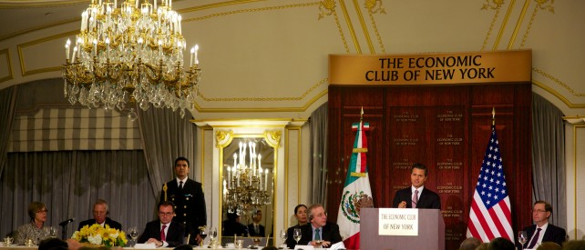 Durante un encuentro con los miembros de The Economic Club of New York, el cual fue fundado en 1907, el Mandatario mexicano aseveró que el empeño del Gobierno es que ese proceso se lleve a cabo de manera eficaz, transparente y eficiente.