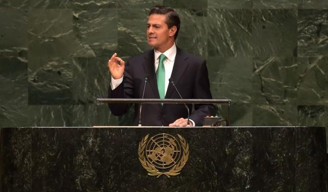"""""""Con esta determinación México, como actor responsable, da un paso histórico en su compromiso con la Organización de las Naciones Unidas"""", destacó."""