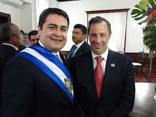 El canciller José Antonio Meade asistió a la transmisión del mando presidencial en la República de Honduras
