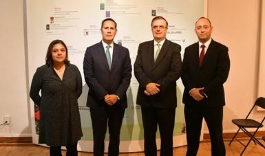 El canciller Marcelo Ebrard inaugura la Octava Feria del Libro de Relaciones Internacionales