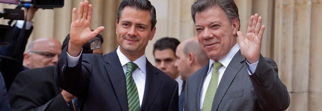 El Presidente Enrique Peña Nieto afirmó que su presencia reafirma los lazos de amistad, hermandad y afecto que hay entre el pueblo de México y el pueblo de Colombia.