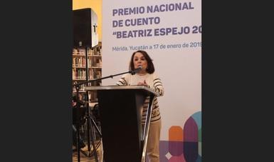 El Premio Nacional de Cuento fue creado en el 2001 por la reconocida escritora Beatriz Espejo, quien forma parte del equipo que recibe y revisa las propuestas literarias postuladas, además de integrar el jurado que dictaminará al triunfador del concurso.