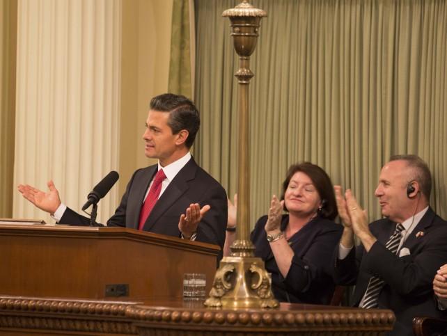 El Presidente Enrique Peña Nieto y el Gobernador Brown ratificaron el interés de México y de California para aprovechar el paradigma que vive América del Norte en materia de energía.