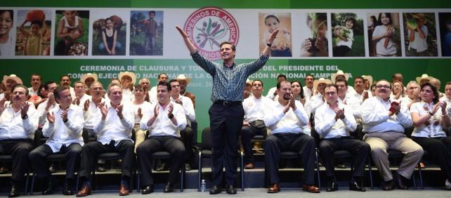 """""""Desde el principio de esta Administración, el Gobierno de la República entiende que el desarrollo de nuestro campo es indispensable para construir el México próspero que todos anhelamos"""", añadió."""