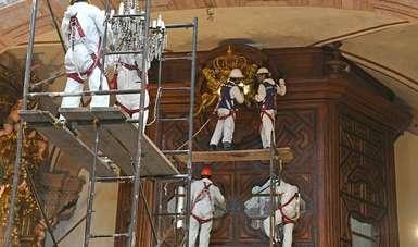 La Secretaría de Cultura informa del avance de 42% en las labores de reconstrucción del patrimonio cultural.