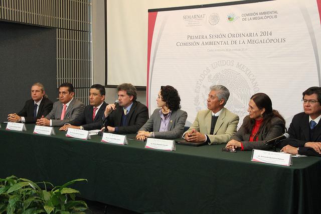 Titulares de las entidades que integran la CAMe, así como Francisco Barnés, titular de la Comisión