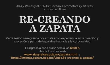 Re-creando a Zapata, curso en línea para fomentar la expresión artística.