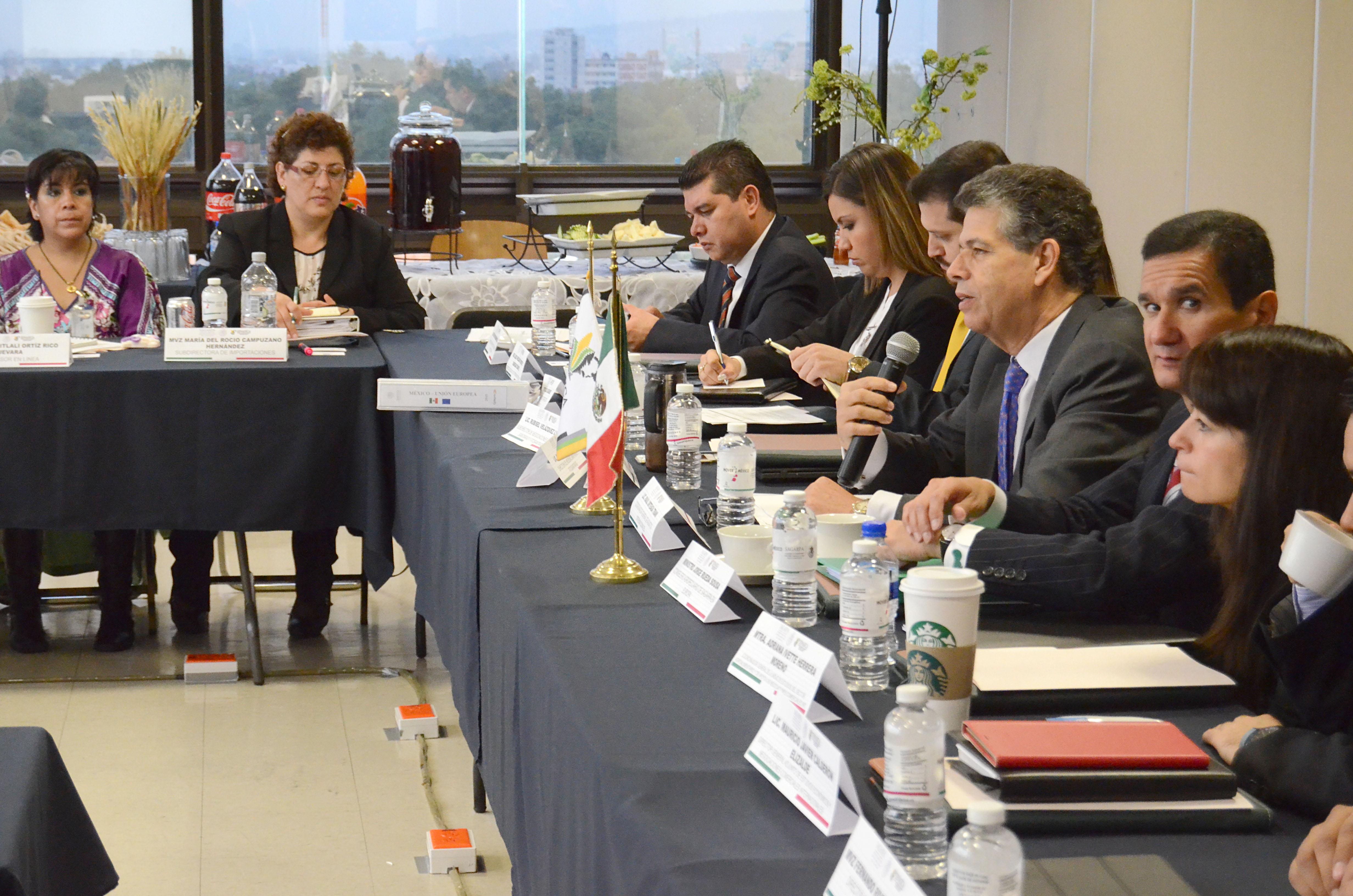 Este encuentro se da en el marco del anuncio de los presidentes de México, Enrique Peña Nieto, y del Consejo Europeo, Donald Tusk, por revisar los diferentes capítulos del tratado comercial.