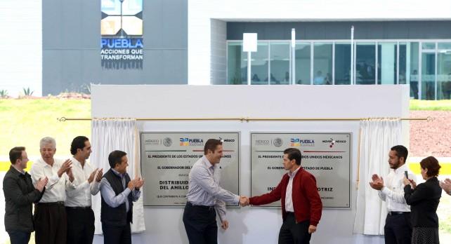 El Boulevard Industria Automotriz tiene una extensión de 21 kilómetros y comprende tres distribuidores viales que conectan con las carreteras más importantes de la región: la Amozoc-Teziutlán, Amozoc-Perote y la Cuapiaxtla-Cuacnopalan.