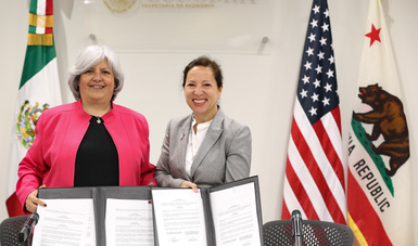 Firma del Memorándum de Entendimiento entre la Secretaría de Economía y el gobierno de California