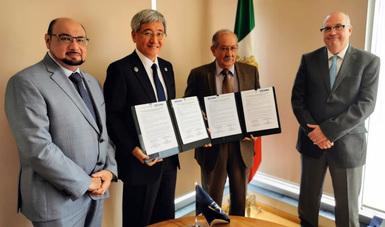 Firma de una carta de intención para fomentar el desarrollo de la Educación Náutica Mercante en México