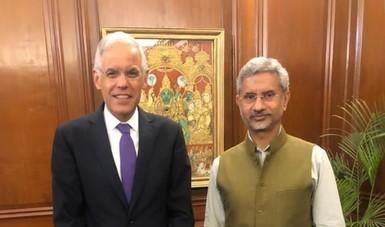 El subsecretario Julián Ventura inicia visita de trabajo en India