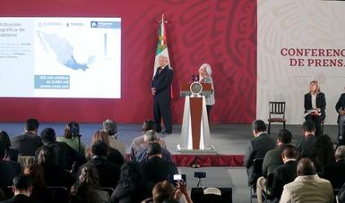 Entrega el Gobierno de México 355 mil créditos, equivalentes a 2,120 millones de pesos del Programa Microcréditos o Tandas para el Bienestar