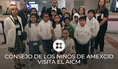 """Visita de los Consejeros de la AMEXCID del Proyecto """"Ciudad de los niños"""" al AICM"""