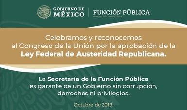 La secretaria Eréndira Sandoval celebró la aprobación de la Ley Federal de Austeridad Republicana