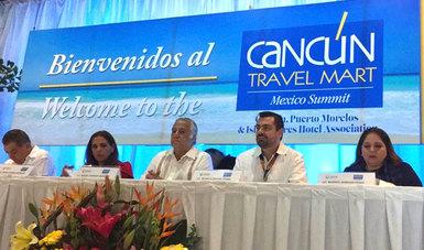 """Por primera vez en sus 32 años de existencia, el """"Cancún Travel Mart"""" contará con siete estados invitados, los cuales también podrán promover y comercializar sus productos turísticos afirmó el secretario de Turismo del Gobierno de México, Miguel Torruco."""
