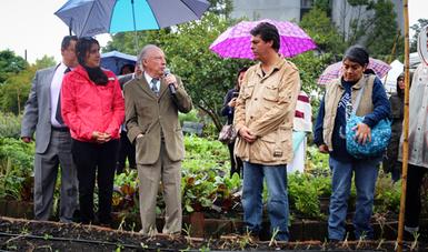 El Titular de la Semarnat inauguró el Encuentro de Huertos urbanos, cultivando ciudades sustentables en Huerto Tlatelolco.