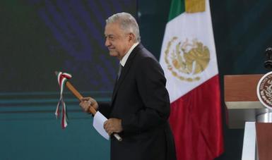 El presidente de México, Andrés Manuel López Obrador, durante la conferencia matutina de este viernes 18 de octubre, desde Culiacán, Sinaloa.
