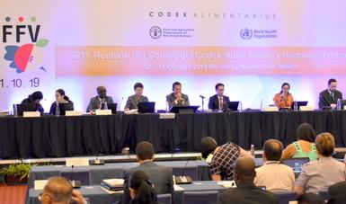 Concluye con éxito la 21 reunión del Comité del Codex