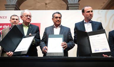 Modificación del título de concesión de la autopista Monterrey-Saltillo, para la construcción y operación del Viaducto Urbano Elevado Santa Catarina