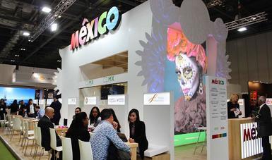 Pabellón de México en el World Travel Market 2019.