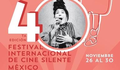Del 26 al 30 de noviembre se llevará a cabo en la ciudad de Puebla la cuarta edición del Festival Internacional de Cine (FIC) Silente México.
