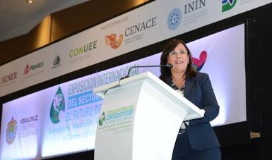Rocío Nahle inaugura la Exposición Internacional del Sector Energético: El futuro de la energía.