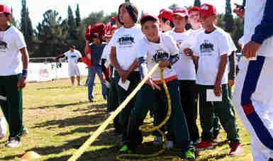 Participaron más de mil niñas, niños y jóvenes en el evento que se realizó en el Estadio Olímpico de la Ciudad Deportiva de Chihuahua.