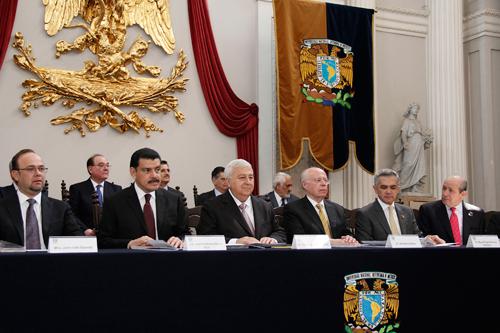 Lic. Emilio Chuayffet, durante la inauguración de la XXXVI Feria Internacional del Libro del Palacio de Minería