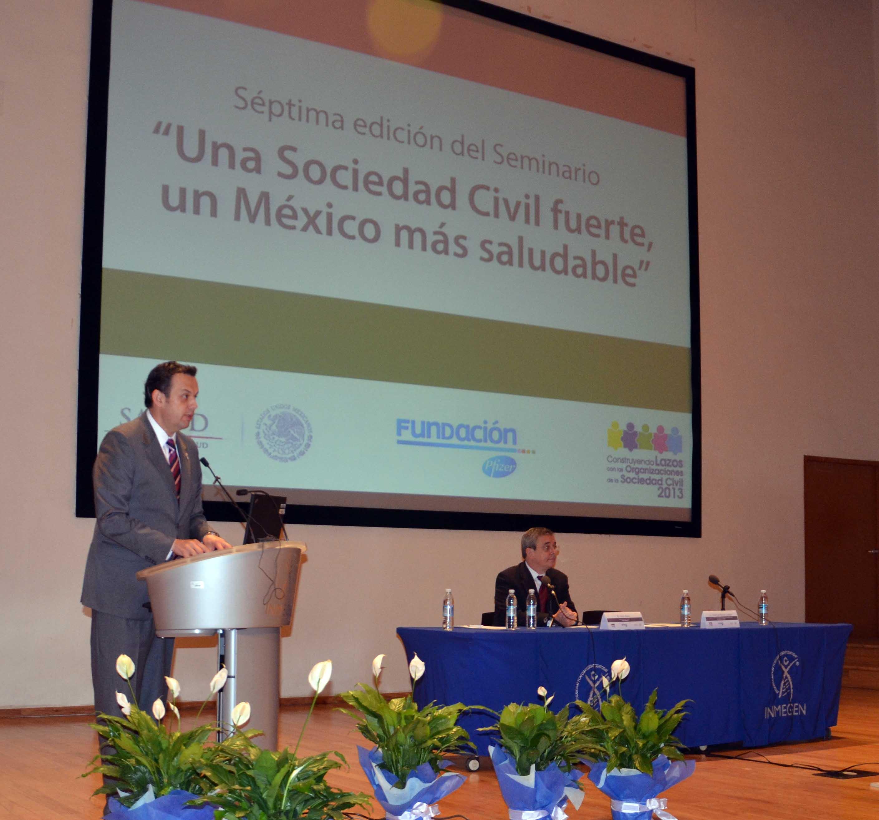"""Seminario """"Una sociedad civil fuerte, un México más Saludable"""""""