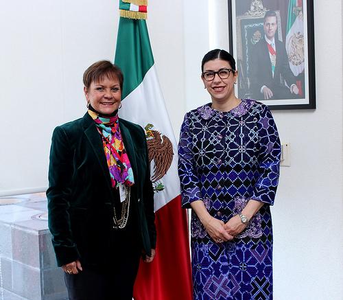 La subsecretaria Vanessa Rubio se reunió con la representante del IICA en México