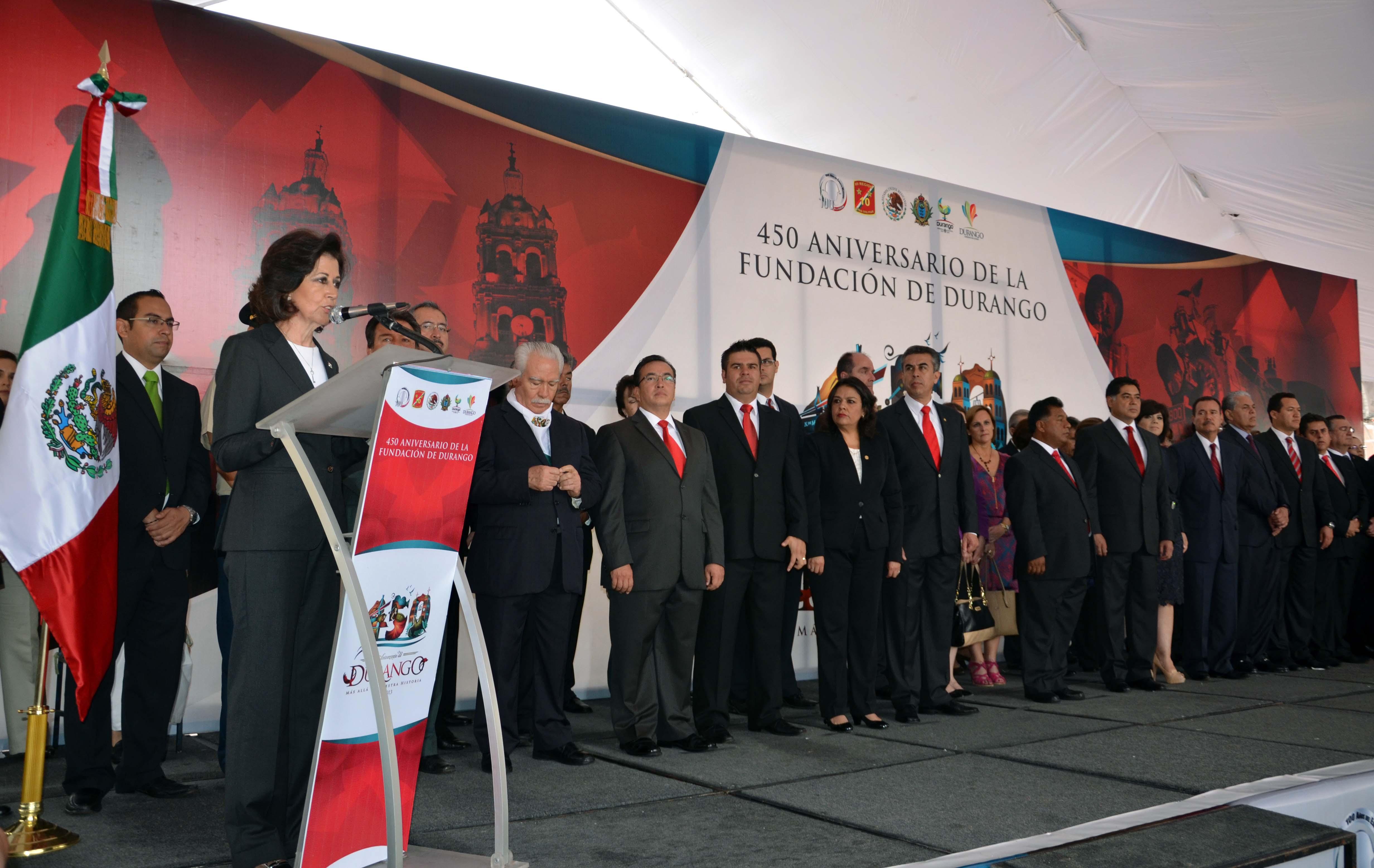 Ceremonia por el 450 Aniversario de Durango