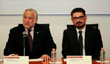 Los titulares de las Secretarías de Desarrollo Agrario, Territorial y Urbano (Sedatu), y de Turismo, Román Meyer Falcón y Miguel Torruco Marqués, respectivamente, firmaron un convenio de colaboración.