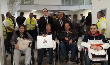 Exitoso regreso de mexicanos heridos en Jordania