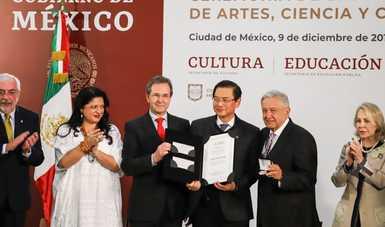 El Gobierno de México llevó a cabo la entrega de los Premios Nacionales de Artes, Ciencia y Cultura 2019 y del Premio Internacional Carlos Fuentes a la Creación Literaria en el Idioma Español 2019.