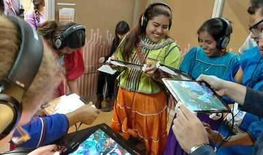 Pabellón de Lenguas Indígenas en la FIL Guadalajara.