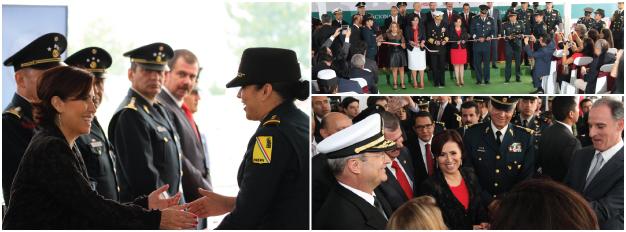 La secretaria de Desarrollo Agrario, Territorial y Urbano, Rosario Robles Berlanga, entregó apoyos para vivienda a elementos de las Fuerzas Armadas e inauguró una feria donde se dará información sobre las opciones para adquirir una casa.