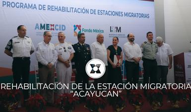 La Dra. Laura Elena Carrillo Cubillas presentó este lunes 9 de diciembre los resultados de los trabajos de mejora de la Estación Migratoria de Acayucan.