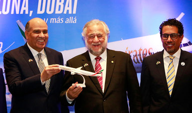 El nuevo vuelo de Emirates Airlines entre Dubái y la CDMX, con escala en Barcelona, que ayer aterrizó por primera vez en nuestro país, permitirá impulsar y promover el arribo de turistas de alto poder adquisitivo procedentes de Emiratos Árabes Unidos.