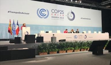 Durante la primera semana de la COP 25 en Madrid, España, la delegación de México participó activamente en diferentes foros y eventos.