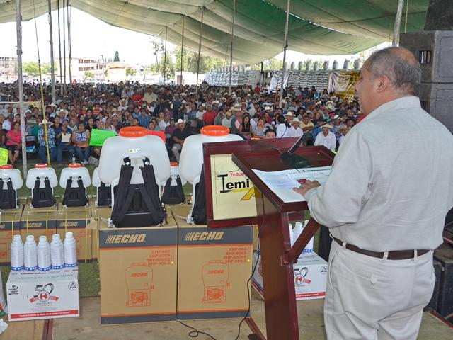 La SAGARPA entregó incentivos productivos para el sector agrícola de Morelos por seis millones 795 mil pesos, en beneficio de mil 641 productores.