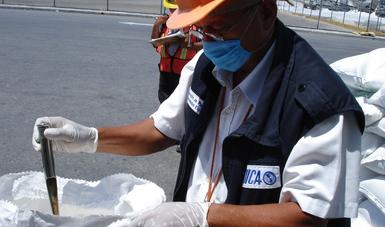 Inspección de arroz