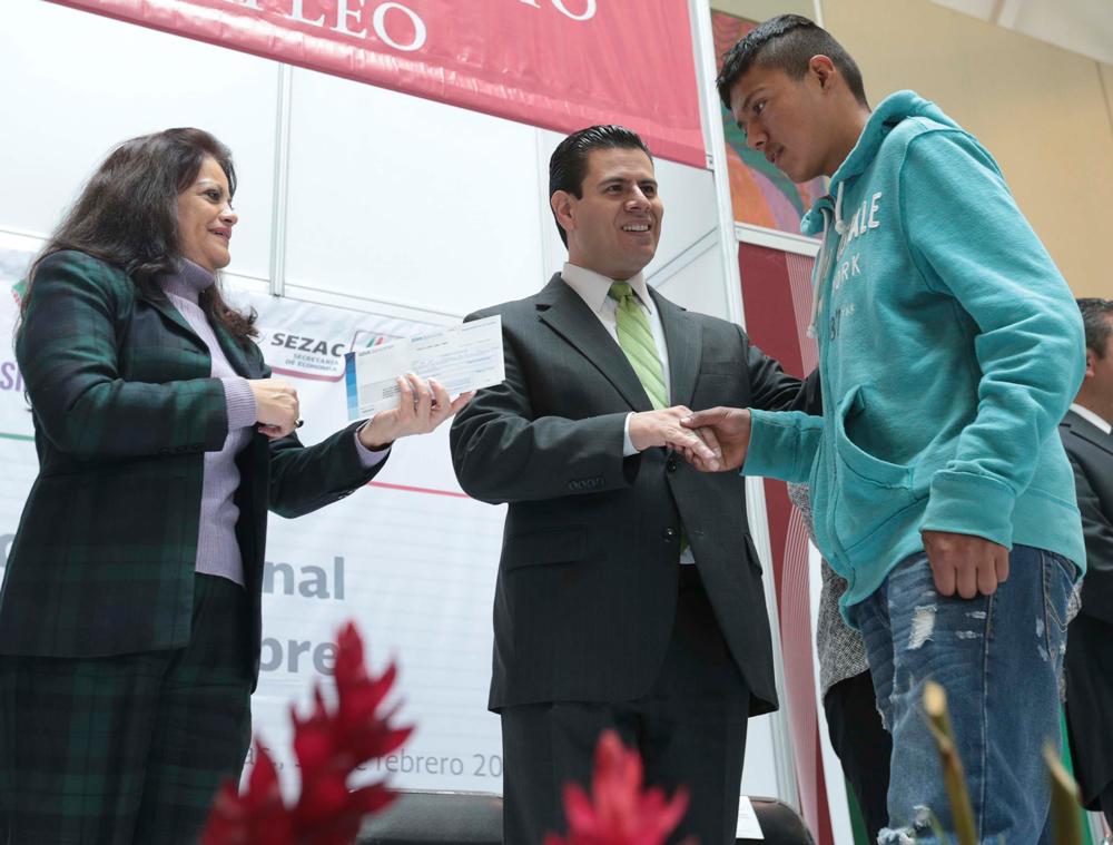 Entrega de apoyos en Zacatecas.